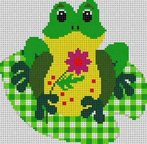 click here to view larger image of Frog (hand painted canvases)