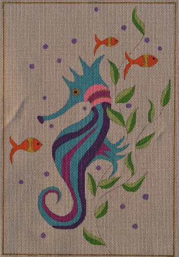 click here to view larger image of Suzy Seahorse (hand painted canvases)