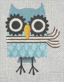 click here to view larger image of Winter Owl (hand painted canvases)