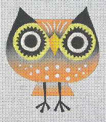 click here to view larger image of Big Eye Owl (hand painted canvases)