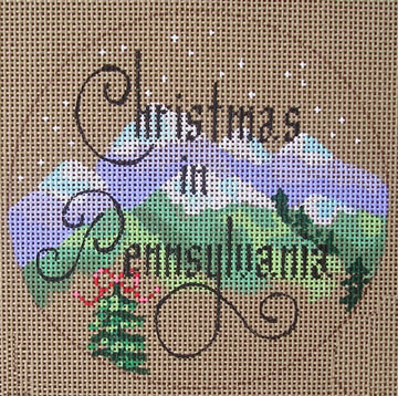 click here to view larger image of Christmas in Pennsylvania  (hand painted canvases)