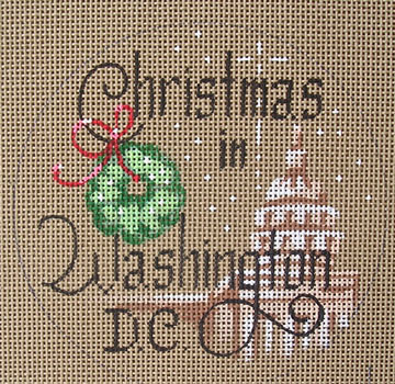click here to view larger image of Christmas in Washington DC (hand painted canvases)