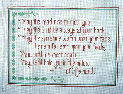 click here to view larger image of Irish Blessing (hand painted canvases)