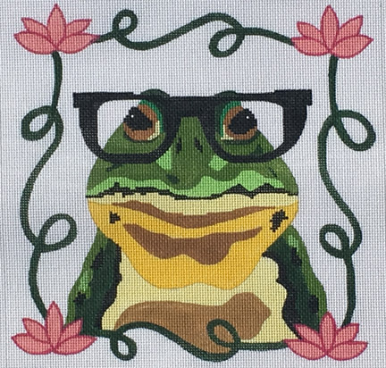 click here to view larger image of Frog with Glasses (hand painted canvases)