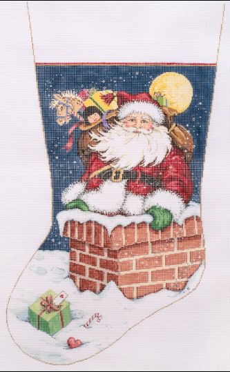 click here to view larger image of Snow Flurries Stocking (hand painted canvases)
