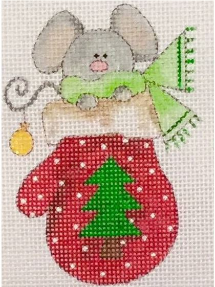click here to view larger image of Mouse in a Mitten (hand painted canvases)