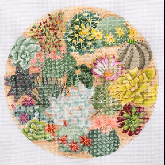 click here to view larger image of Succulent Garden (hand painted canvases)