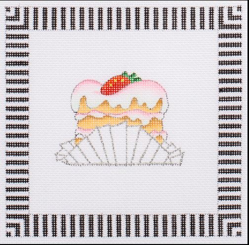 click here to view larger image of Tea Time Coaster (hand painted canvases)