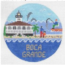 click here to view larger image of Boca Grande Round (hand painted canvases)