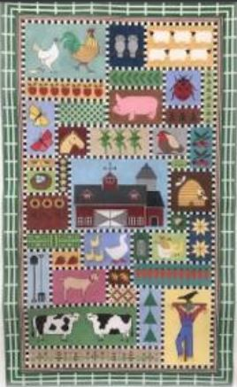 click here to view larger image of Country Farm Rug (hand painted canvases)