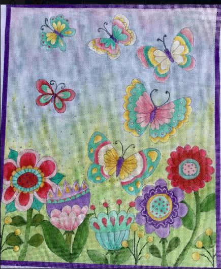 click here to view larger image of Lily�s Butterfly Garden (hand painted canvases)