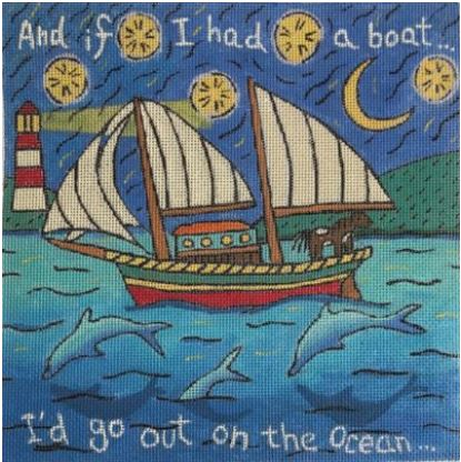 click here to view larger image of And If I Had A Boat ..... (hand painted canvases)