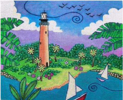 click here to view larger image of Jupiter Lighthouse (hand painted canvases)