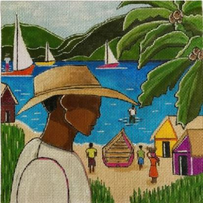 click here to view larger image of Fisherman (hand painted canvases)