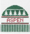 click here to view larger image of Aspen, CO - Wool Hat Ornament (hand painted canvases)