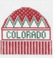 click here to view larger image of Colorado - Wool Hat Ornament (hand painted canvases)