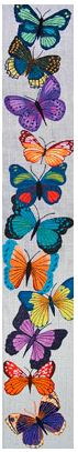 click here to view larger image of Butterfly Bellpull II (hand painted canvases)
