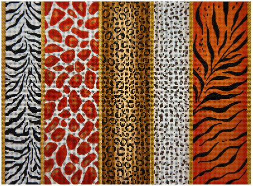 click here to view larger image of Animal Skin Borders II (hand painted canvases)