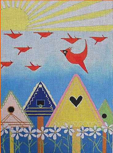 click here to view larger image of Birdie Freeway (hand painted canvases)