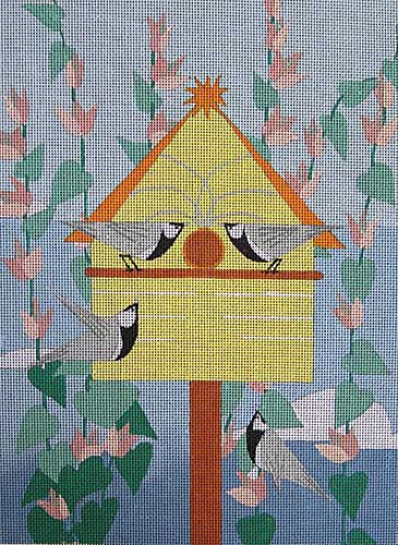 click here to view larger image of Chickadees (hand painted canvases)