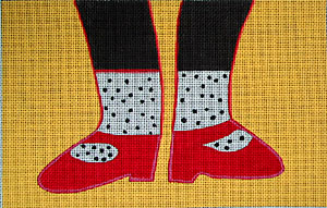 click here to view larger image of Happy Feet (hand painted canvases)