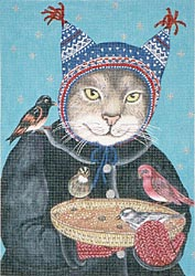 click here to view larger image of Hat Cat (hand painted canvases)