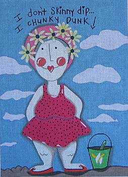 click here to view larger image of Skinny Dip (hand painted canvases)