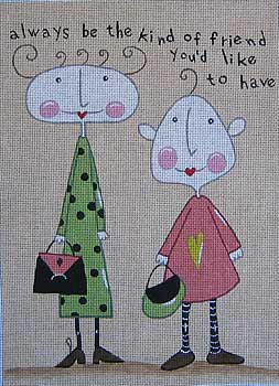 click here to view larger image of Friendship (hand painted canvases)