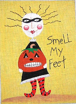 click here to view larger image of Smell My Feet (hand painted canvases)