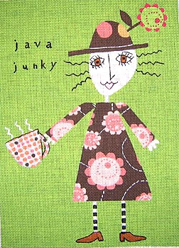 click here to view larger image of Java Junky (hand painted canvases)