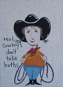click here to view larger image of Real Cowboys (hand painted canvases)