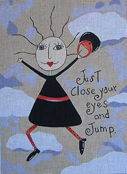 click here to view larger image of Just Jump (hand painted canvases)