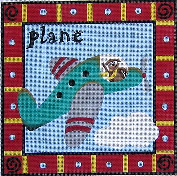 click here to view larger image of Plane (hand painted canvases)