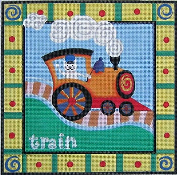 click here to view larger image of Train (hand painted canvases)