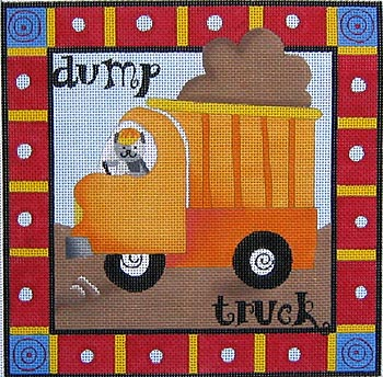 click here to view larger image of Dump Truck (hand painted canvases)