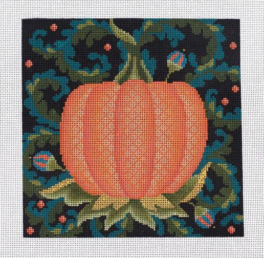 click here to view larger image of Jacobean Pumpkin (hand painted canvases)