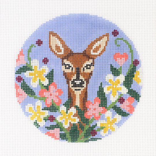 click here to view larger image of Wildflower Doe (hand painted canvases)