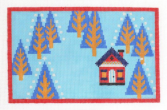 click here to view larger image of Woodland Home Winter (hand painted canvases)