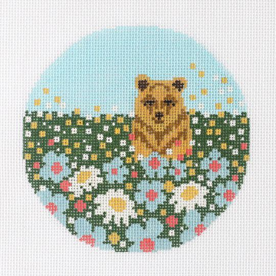 click here to view larger image of Daisy Bear Ornament (hand painted canvases)