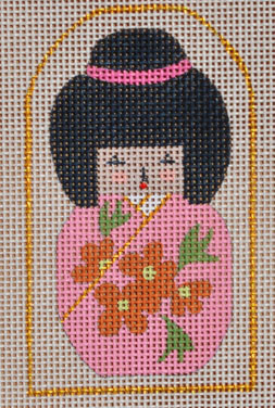 click here to view larger image of Mini Pink Geisha  (hand painted canvases)