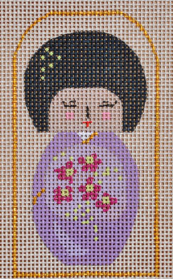 click here to view larger image of Mini Purple Geisha  (hand painted canvases)