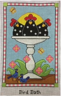 click here to view larger image of Bird Bath (resized) (hand painted canvases)