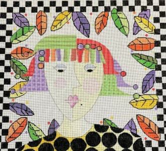 click here to view larger image of Fall Girl (hand painted canvases)