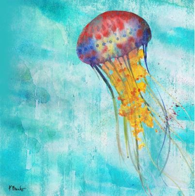 click here to view larger image of Arianna Jellyfish I (hand painted canvases)