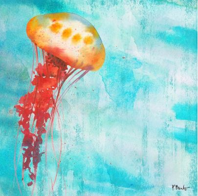 click here to view larger image of Arianna Jellyfish II (hand painted canvases)