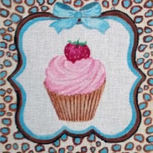 click here to view larger image of Strawberry Cupcake (hand painted canvases)