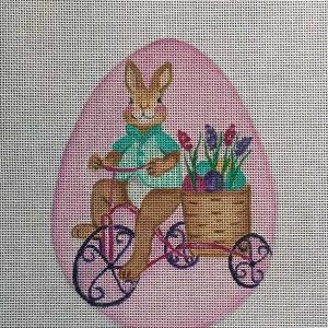 click here to view larger image of Bunny Bicycle (hand painted canvases)