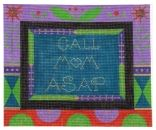 Call Mom ASAP - Black - click here for more details about this hand painted canvases