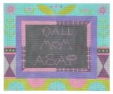 Call Mom ASAP - Lavender - click here for more details about this hand painted canvases
