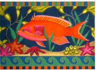 click here to view larger image of Orange Fish (hand painted canvases)